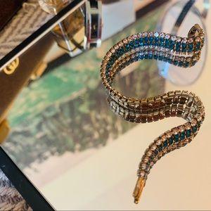 Crystal Lab Emerald / Zirconia Tennis Bracelet
